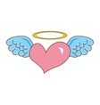 heart with wings cute icon vector image vector image