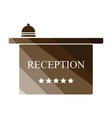 hotel reception desk icon vector image vector image