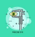 human eye measured with vernier caliper creative vector image