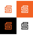 initial letter s logo design template elements vector image vector image