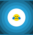 isolated tears flat icon cold sweat vector image vector image