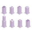 isometric building set isolated on white vector image vector image