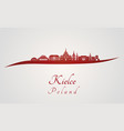 kielce skyline in red vector image vector image