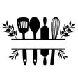 kitchen split with olives vector image vector image