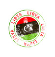 libya sign vintage grunge imprint with flag on vector image vector image