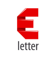 logo red tape in the form of letter E vector image vector image