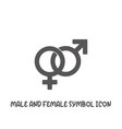 male and female symbol icon simple flat style vector image