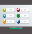 minimal timeline or option line design vector image vector image