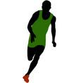 muscular athlete man running vector image vector image