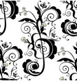 music notes floral ornament vector image vector image