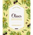Olive Frame Background vector image vector image