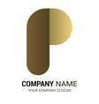 p logo premium vector image vector image