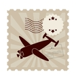 postal stamp classic isolated icon vector image vector image