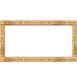 rectangle brown bamboo stems wooden border frame vector image