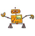 robot cartoon fantasy character vector image vector image