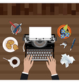 Scriptwriter workplace vector image vector image
