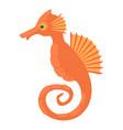 seahorse icon cartoon style vector image