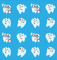 seamless pattern from cute cartoon smile healthy vector image