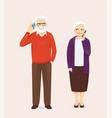 senior couple talking on phone vector image vector image