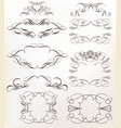 set calligraphic frames for design vector image vector image