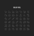 set line icons coal mining vector image