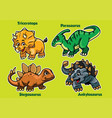 set of baby dinosaurs vector image vector image