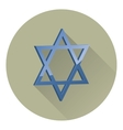 six-pointed Star of David vector image