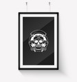 sketch sport skull with dumbbells vector image