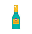 sparkling wine bottle flat vector image