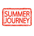 summer journey stamp text design vector image