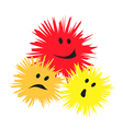 Three cheerful monsters vector image vector image