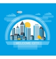 Urban flat style vector image