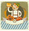 vintage oktoberfest posterl label with man and vector image vector image