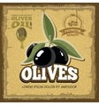 vintage poster of premium quality Olives vector image