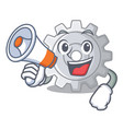 with megaphone roda gear simple image on cartoon vector image vector image