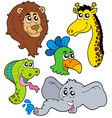 zoo animals collection 6 vector image vector image