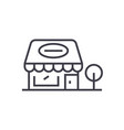 retail shop linear icon sign symbol on vector image