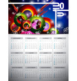 Calendar 2015 on abstract background vector image