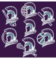 spartan warrior as emblem of sports teams vector image