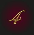 4 golden letter vector image