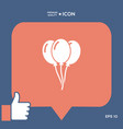 balloons icon vector image vector image