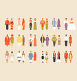 big set of national costumes part 1 vector image vector image