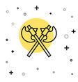 black line crossed medieval axes icon isolated on vector image vector image