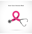 Breast cancer awareness logo vector image