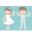 Bride and groom celebrating vector image vector image
