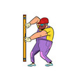 builder with meter level vector image