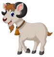 cartoon goat smiling vector image vector image