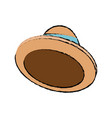 cartoon hat accessory fashion icon vector image