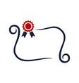 certificate simple logo design template vector image