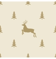 christmas reindeer seamless line pattern tile vector image vector image